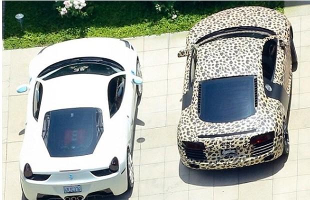 Justin Bieber's Ferrari and Audi R8