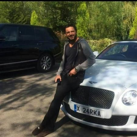 Afridi with his Bentley