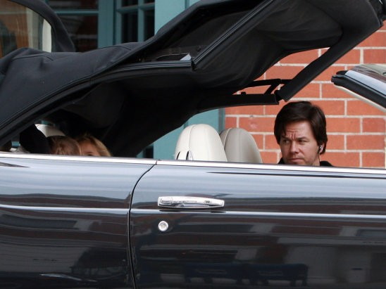 Mark and His Kids in Covertible Black Bentley