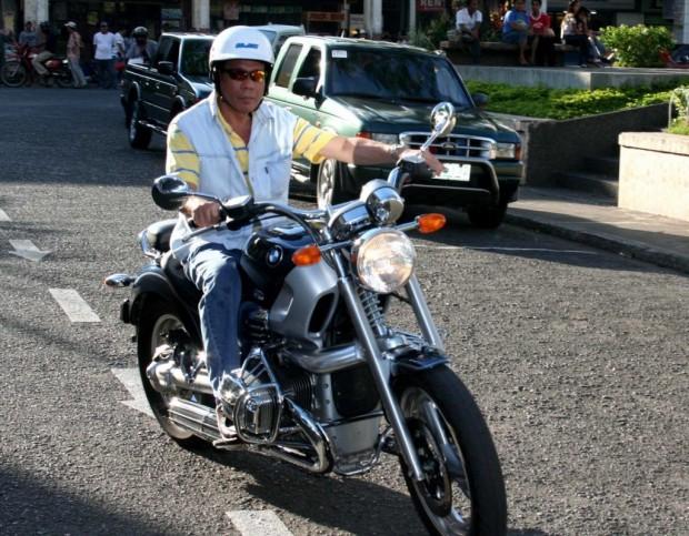 Rody on His BMW Bike