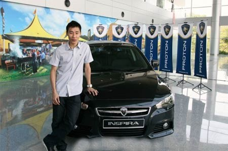 Lee Chong with His Inspira 2.0