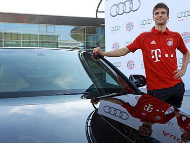Muller with his Audi S5