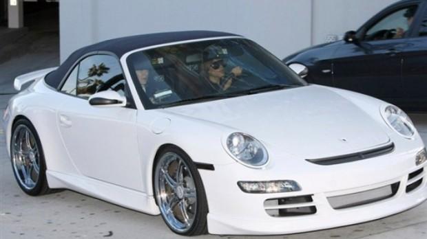 Victoria Beckham White Porsche 911