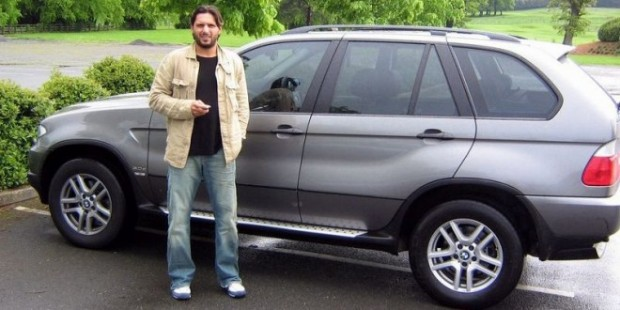 Afridi with His BMW X5