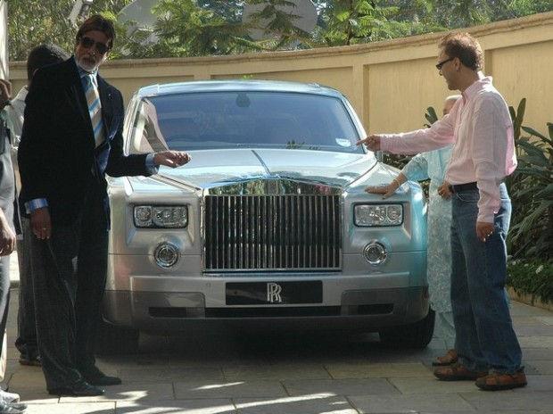 Amitabh with his Rolls Royce Phantom