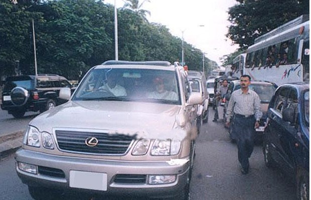 Amitabh in his Lexus Car