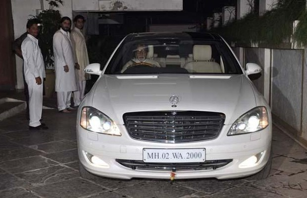 Big B in his Mercedes Benz