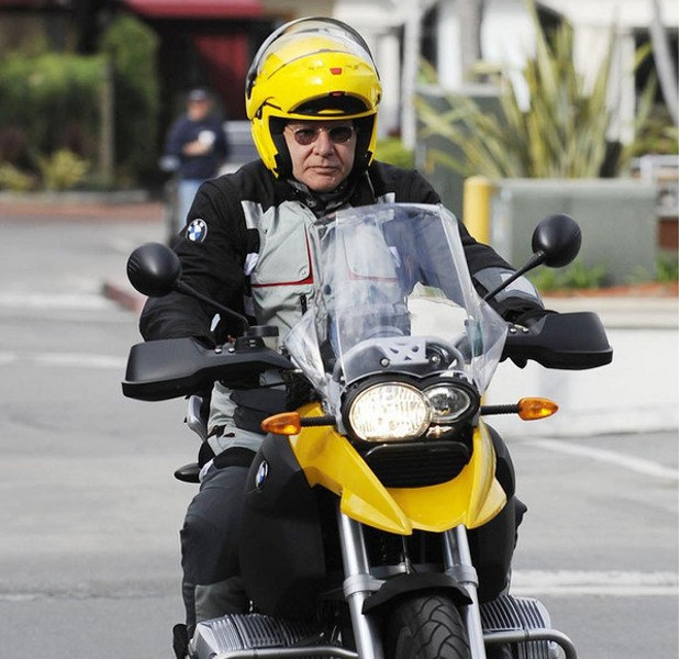 Harrison Ford on His BMW Bike