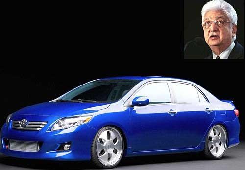 Azim Premji owns a Toyota Corolla