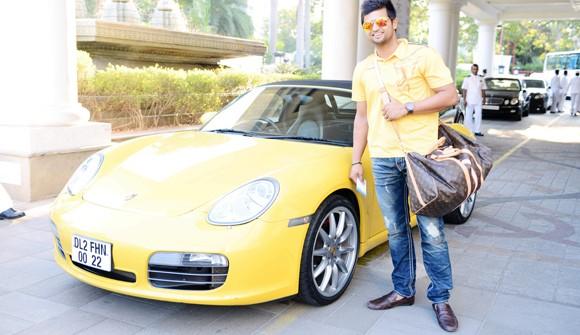 Suresh Raina's Porsche