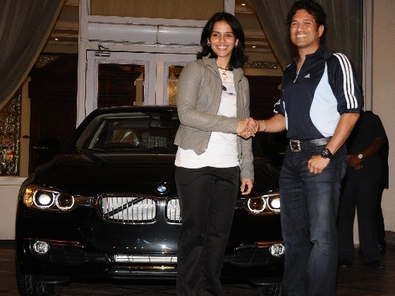 Saina Nehwal got a BMW From Sachin Tendulkar