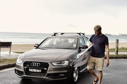 Mick Fanning and his Audi A4 Avan