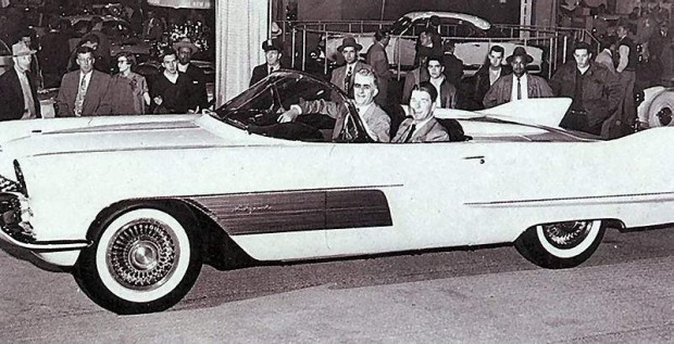 Ronald Reagan is seen here in the 1954 Cadillac LaEspada