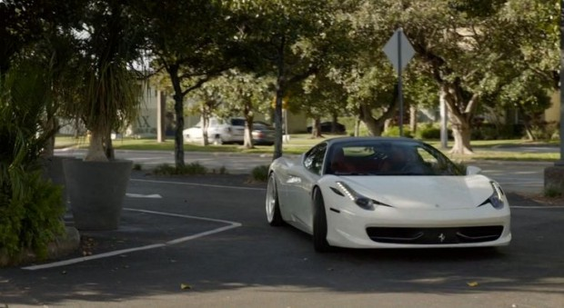 John David Washington Car Ferrari 458 Italia
