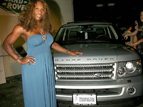 Venus Williams Range Rover