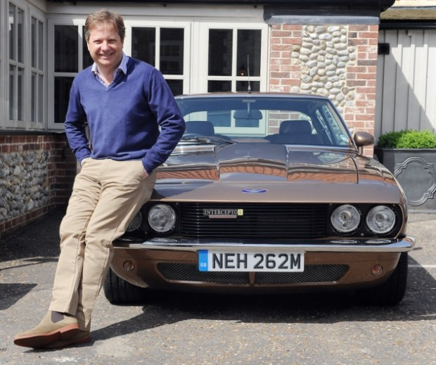 Charles Dunstone With His Interceptor