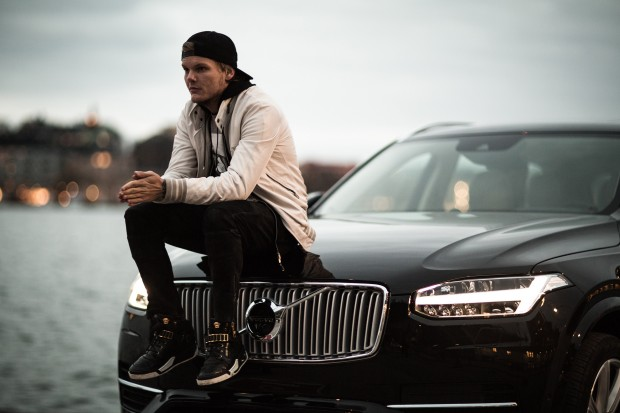 Avicii With His Volvo