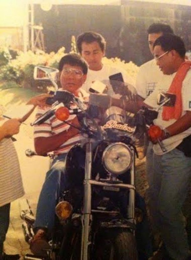 Rodrigo Duterte With His Bike
