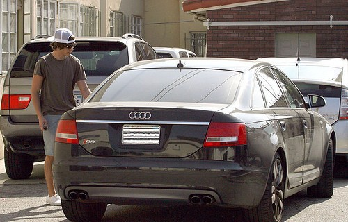 Zac Efron with His Audi S6