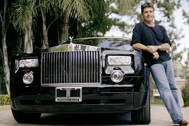 Simon Cowell With His Rolls Royce