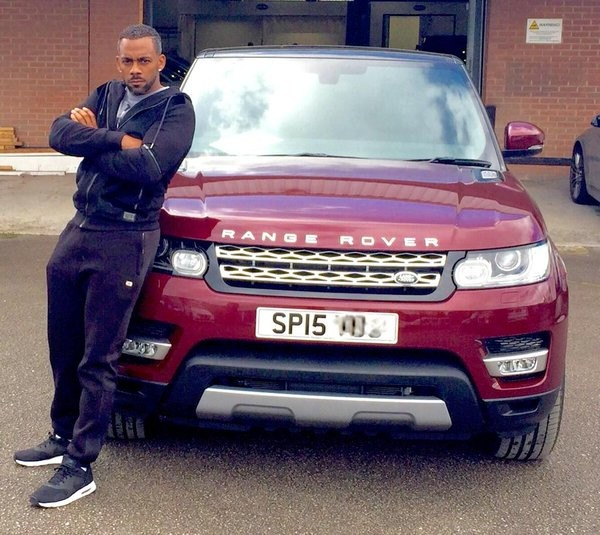Richard Blackwood's Range Rover