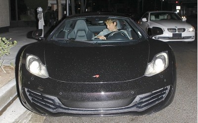 Keith Urban in His McLaren