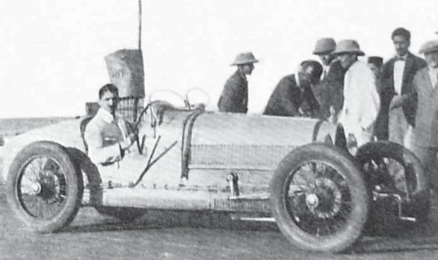 J.R.D. Tata With His Car Bugatti