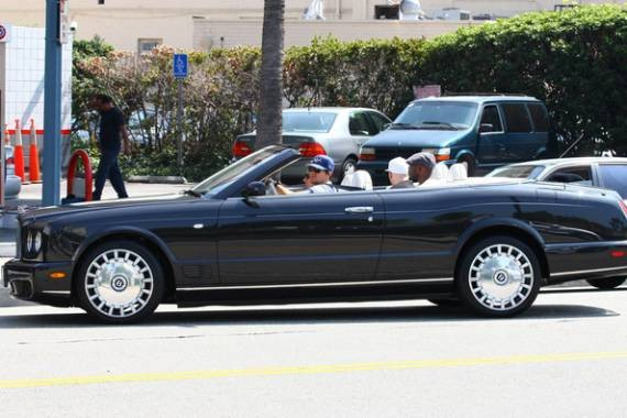 Mark Wahlberg owns a Bentley Azure