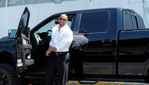"The Rock owns Ford F150 truck which is also known as  ""black gorilla"""
