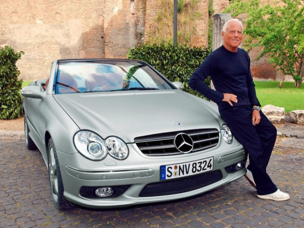 Giorgio Armani with His Merc