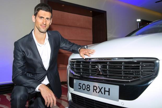 Novak Djokovic With Peugeot 508