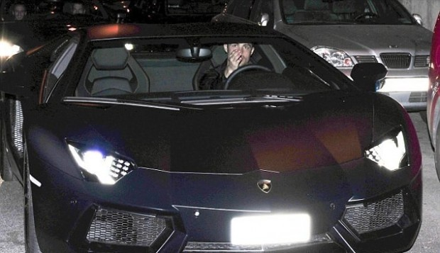 Ronaldo with His Lamborghini