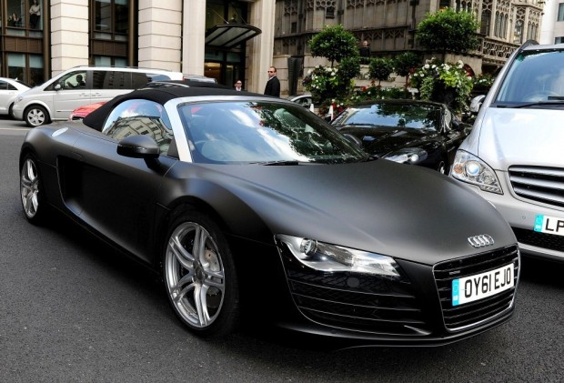 Tom Hardy with his Custom Made Audi R8
