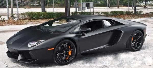 Kobe Bryant's Flat Black Lamborghini Aventador