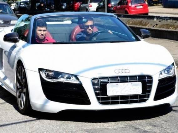 Neymar in His Audi R8 GT