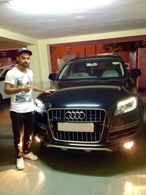 Kohli with His Audi Q7