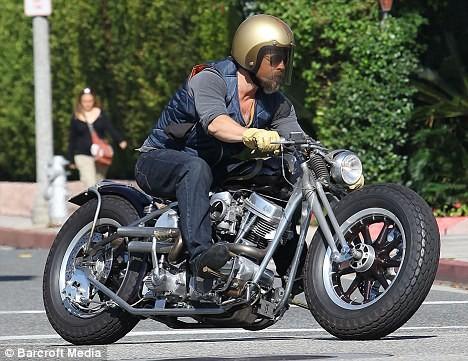 Brad Pitt Motorbike