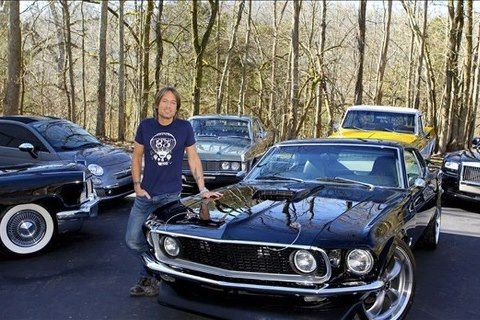 Keith Urban with His Car Collection