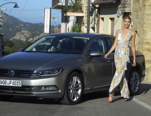 Lena With VW Passat In Sardinia