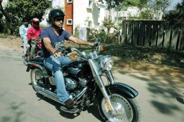 MSD on His Harley Davidson Fat Boy