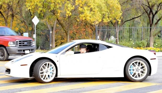 Justin Bieber's Ferrari