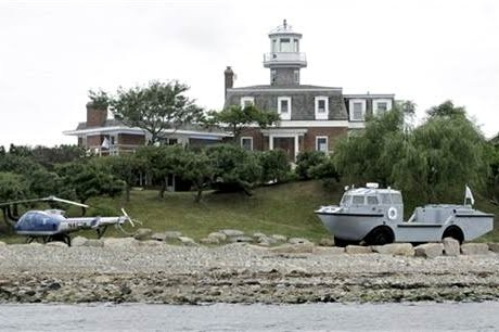 Dean Kame's Helicopter at his Island Mansion
