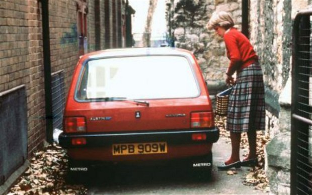 Princess Diana's red Austin Metro