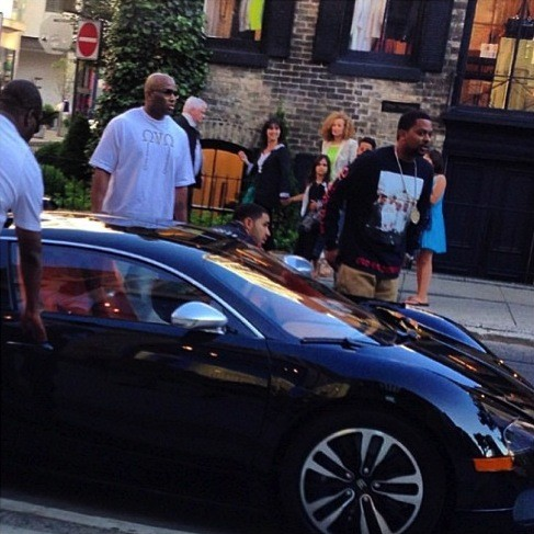 Drake in his Bugatti