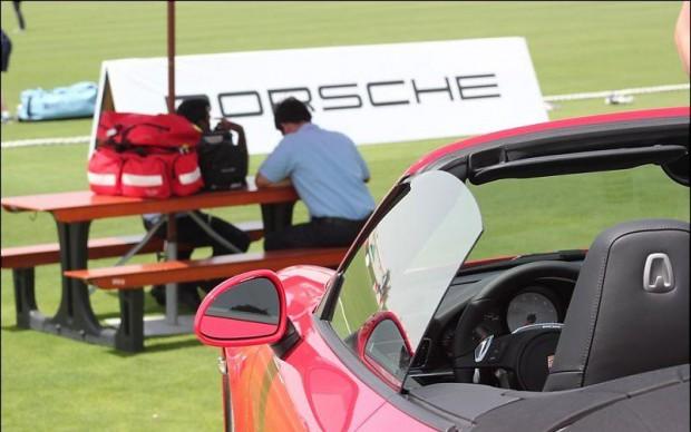 Dravid's Porsche car