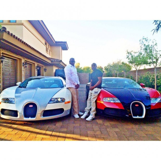 Floyd with Bugatti Cars