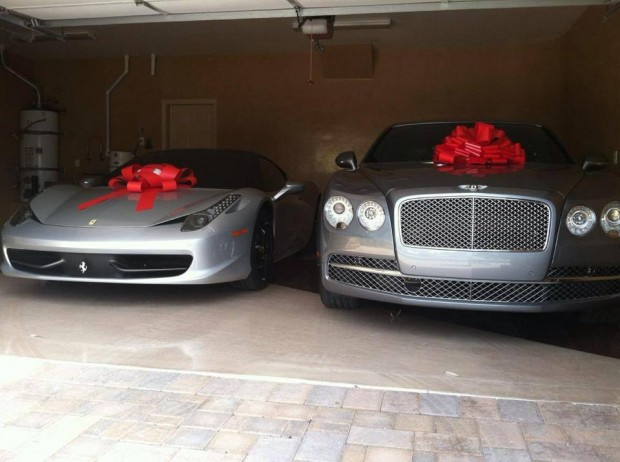 Ferrari and Bentley of Floyd Mayweather