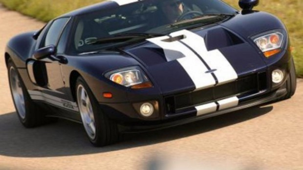 Francois Pinault drives his Ford GT