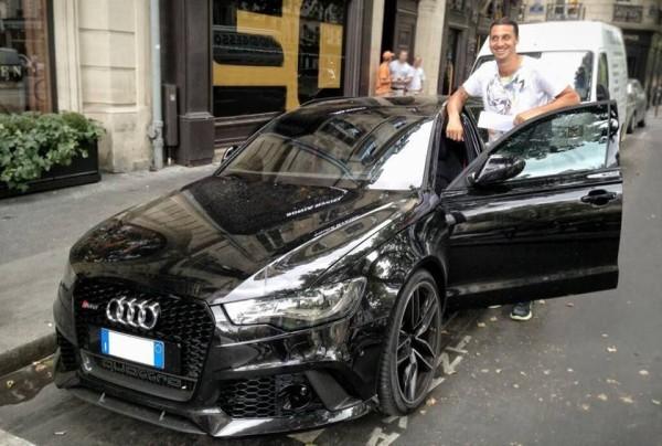 Ibra with his Audi
