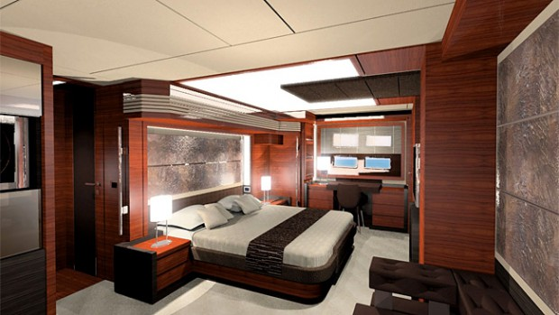 Bedroom in the Robert Kuok yacht
